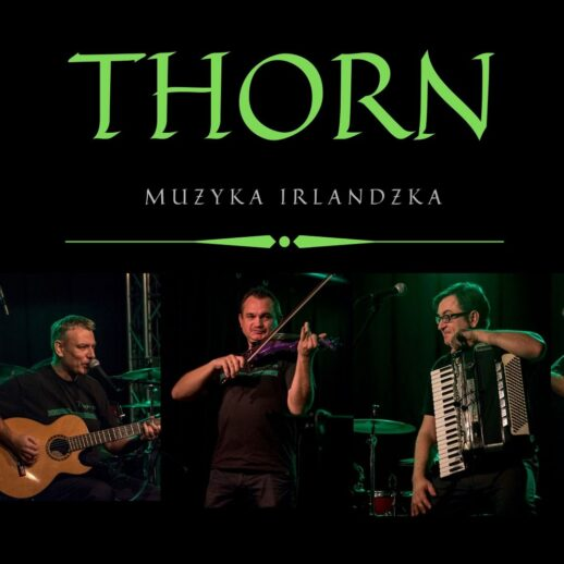 THORN muzyka Irlandzka - grafika przedstawia członków zespołu zinstrumentami