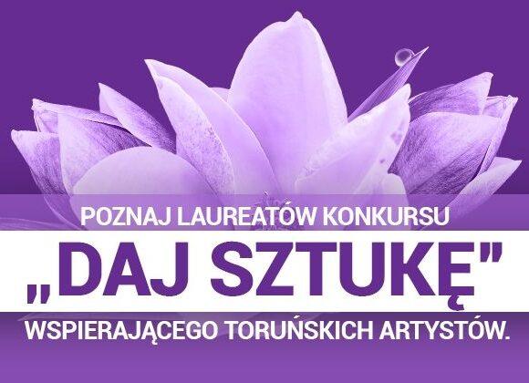 """plakat wydarzenia """"Daj sztukę"""""""