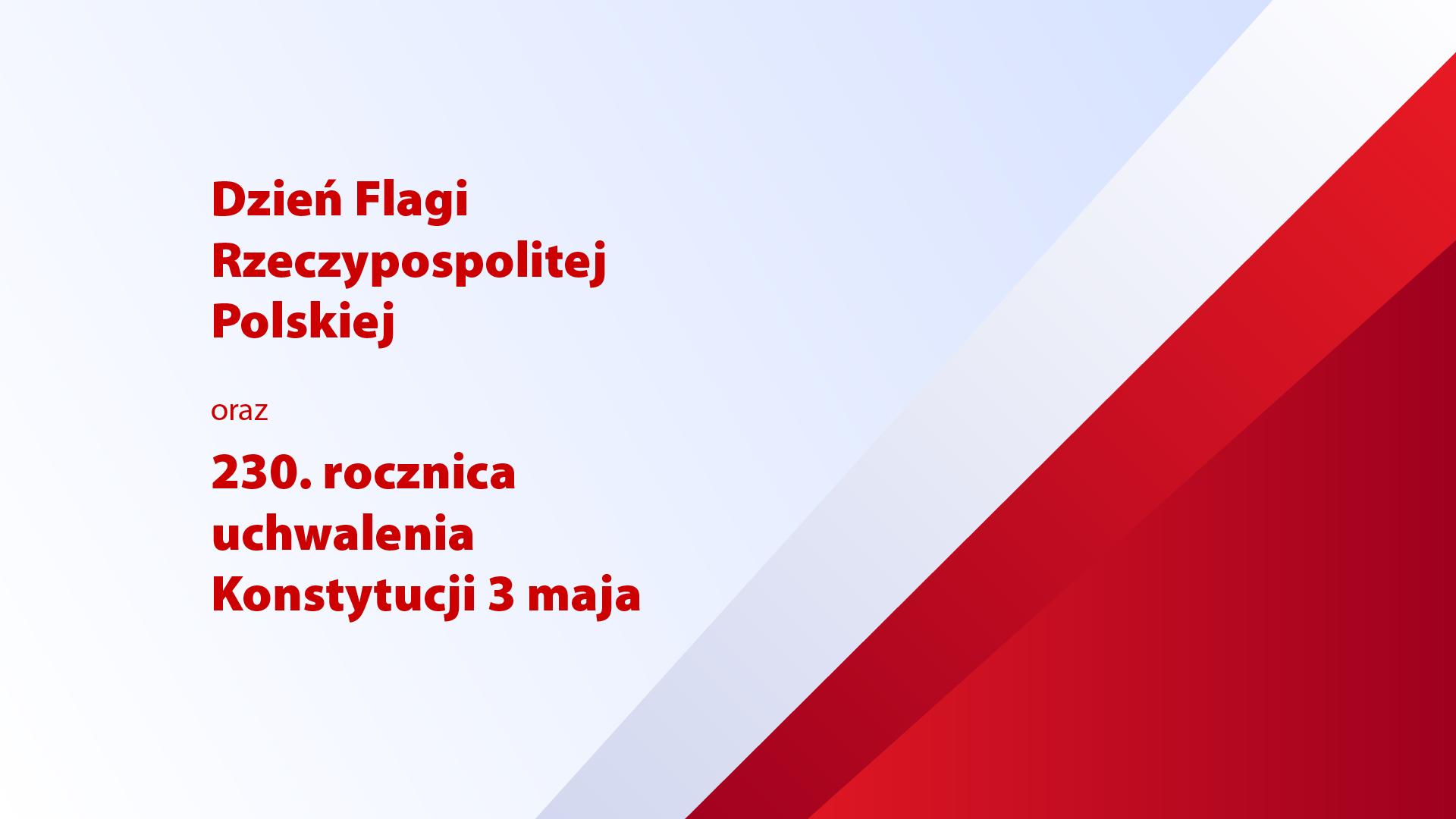 grafika zpolską flagą na 2-3.05.