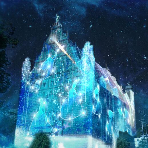 Bella Skyway mapping Disney na Collegium Maximum
