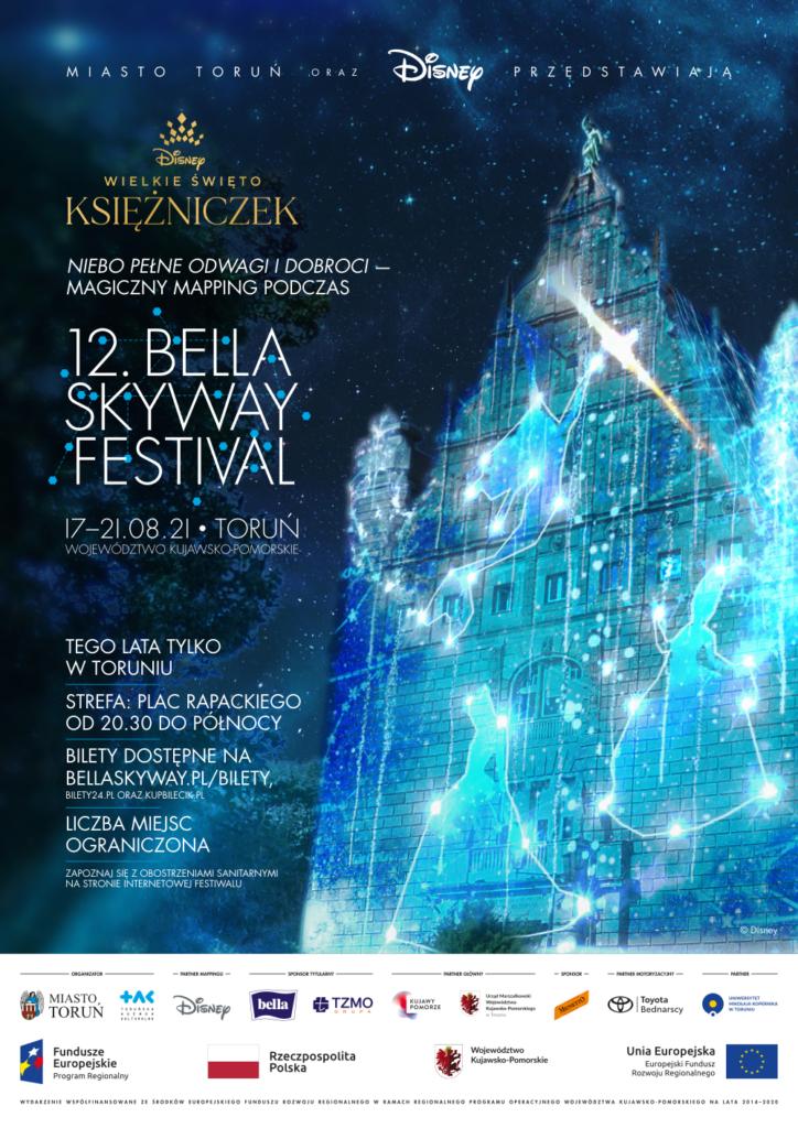 plakat zmappingiem na 12. Bella Skyway Festival